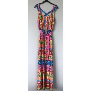 Like New Nanette Lepore Printed Silk Maxi Dress